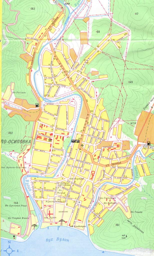 Архипо-Осиповка . Карта.